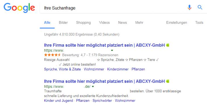 Google-Ergebnis